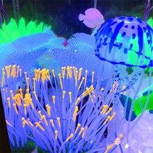Artificial Swim Glowing Effect Jellyfish Aquarium Decoration Fish Tank  Underwater Live Plant Landscape Decor Accessories