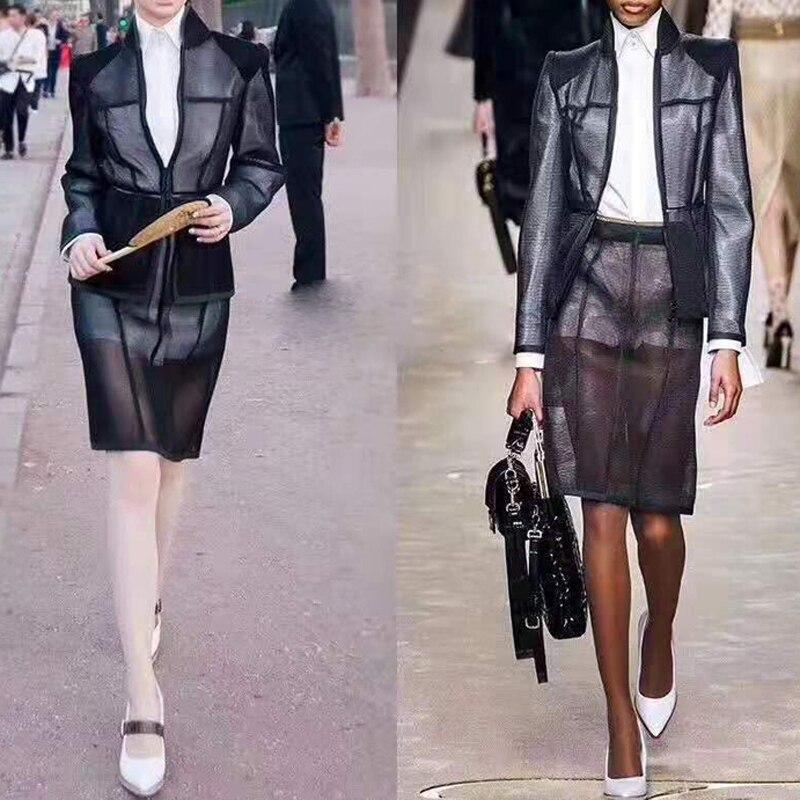 Trois pièces correspondant ensembles blanc chemise robe à manches longues pure maille manteau Midi chemise automne Streetwear mode vêtements