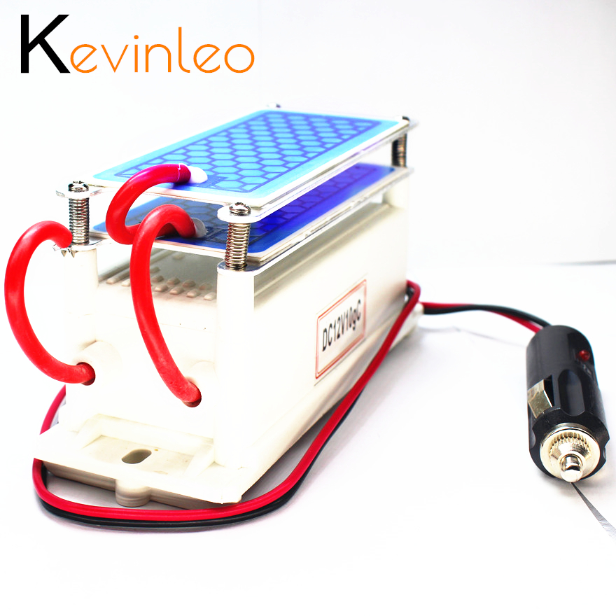 Kevinleo Ozone Generator Car 10g 12V Long-Last Air Clean Portable Ceramic Plate Air Purifier Air Sterilizer Car Ozone Ionizer