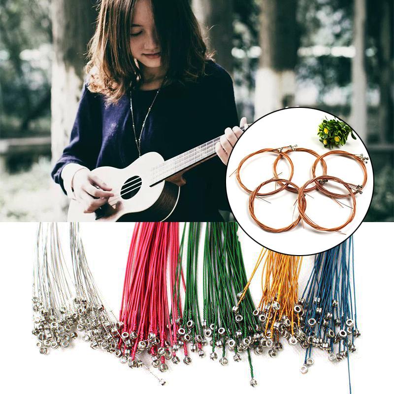 4/6pcs Ukulele Guitar Strings Replacement Parts Ukulele Strings Kit Universal Portable Musical Instrument Accessories
