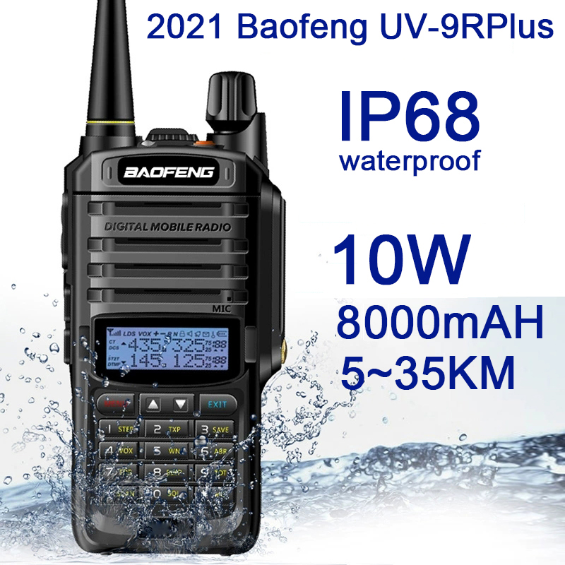 Walkie-Talkie Transceiver Ham-Radio Dual-Band Uv9rplus Jacht IP68 Cb Portable 10W Baofeng
