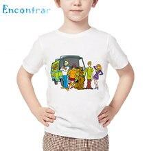 Crianças dos desenhos animados scooby doo mistério máquina t camisa crianças engraçado roupas do bebê meninos meninas de manga curta verão topos