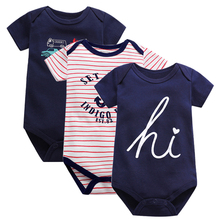 Baby Rompers 2019 Short Sleeve 100%Cotton overalls Newborn clothes