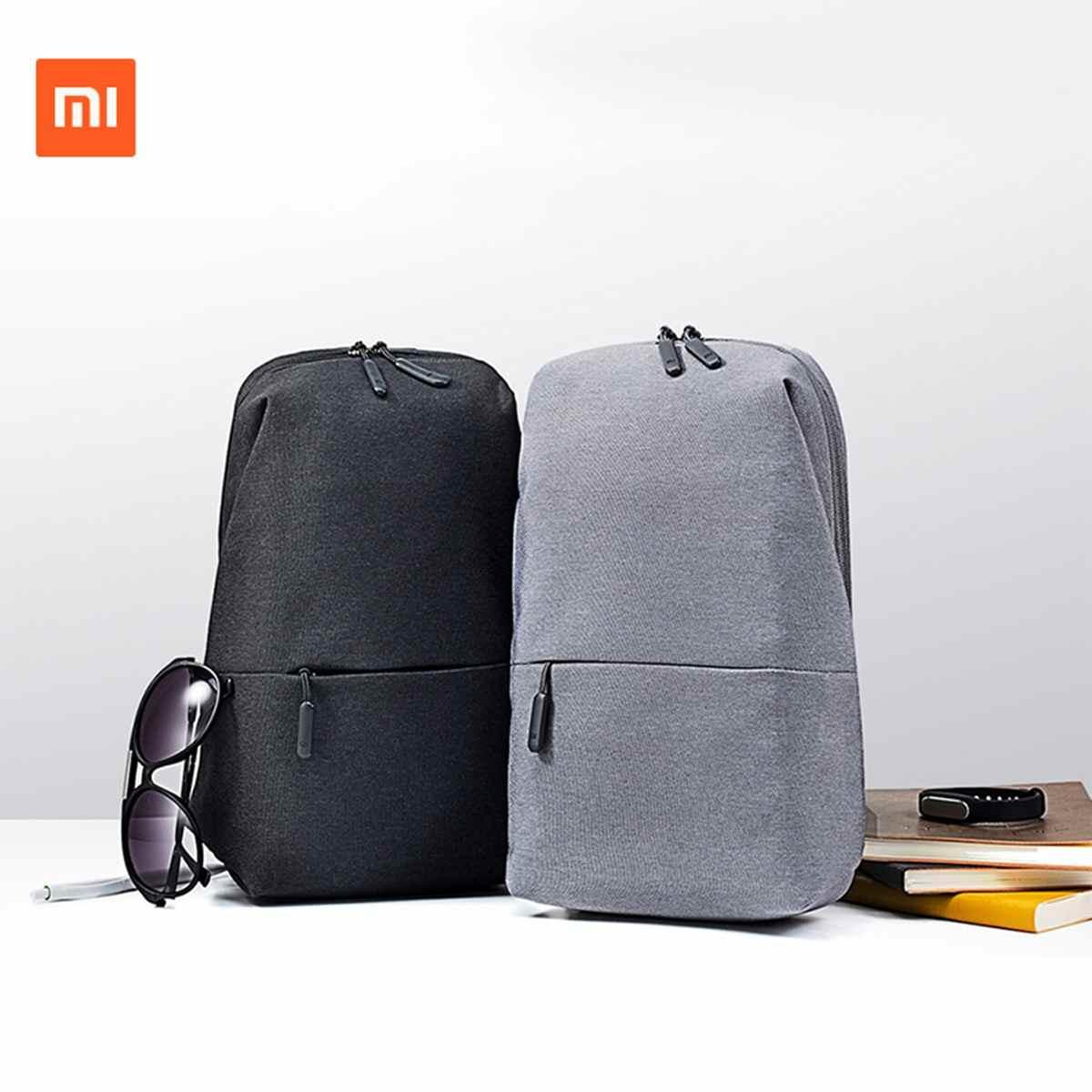 100% Xiaomi Mi Backpack Bag Urban Leisure Sports Chest Pack For Men Women Shoulder Bags Unisex Rucksack Laptop Travle Bags