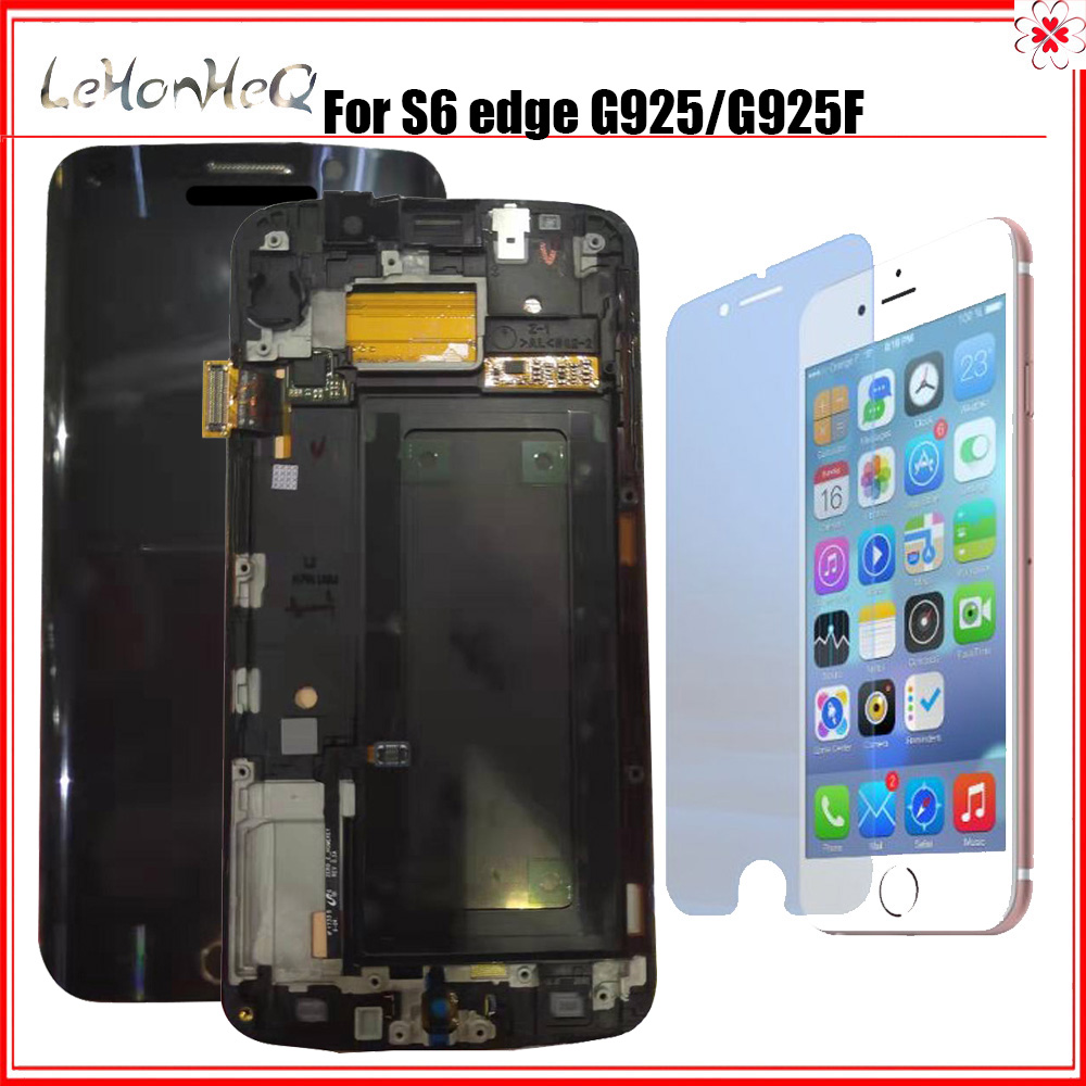 For Samsung Galaxy S6 Edge LCD Display With Frame Touch Screen Digitizer Assembly SM-G925F G925F G925 Display image