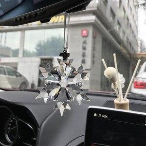 Image 2 - Acessórios carro pendurado cristal transparente decoração do carro acessórios do carro ornamento do natal para meninas