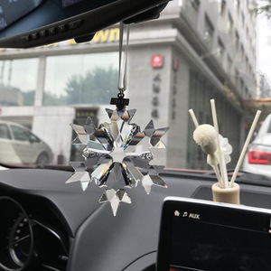 Image 2 - Car hanging accessories transparent crystal christmas car decoration ornament car accessories for girls