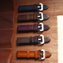 Genuine Leather Watch Band 18mm 20mm 22mm 24mm Quick Release Watch Straps Brown Watchbands Accessories for Panerai Watch Band стоимость