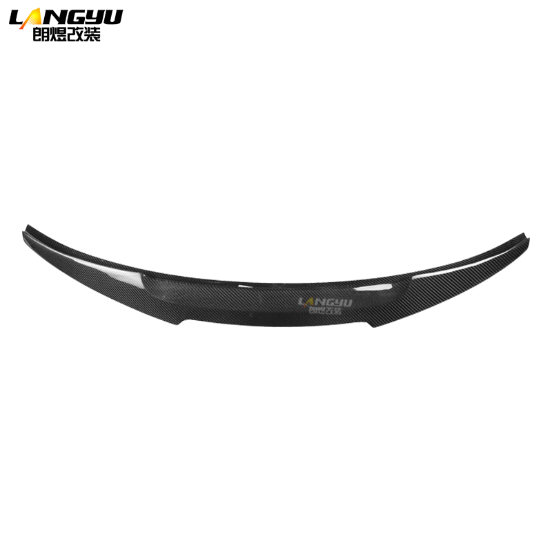 For Audi A3 S3 Sedan 4dr Typ 8V 2013 2014 2015 2016 2017 2018 2019 Real Carbon Fiber M4 Rear Trunk Lip Spoiler Wing Tail Boot image