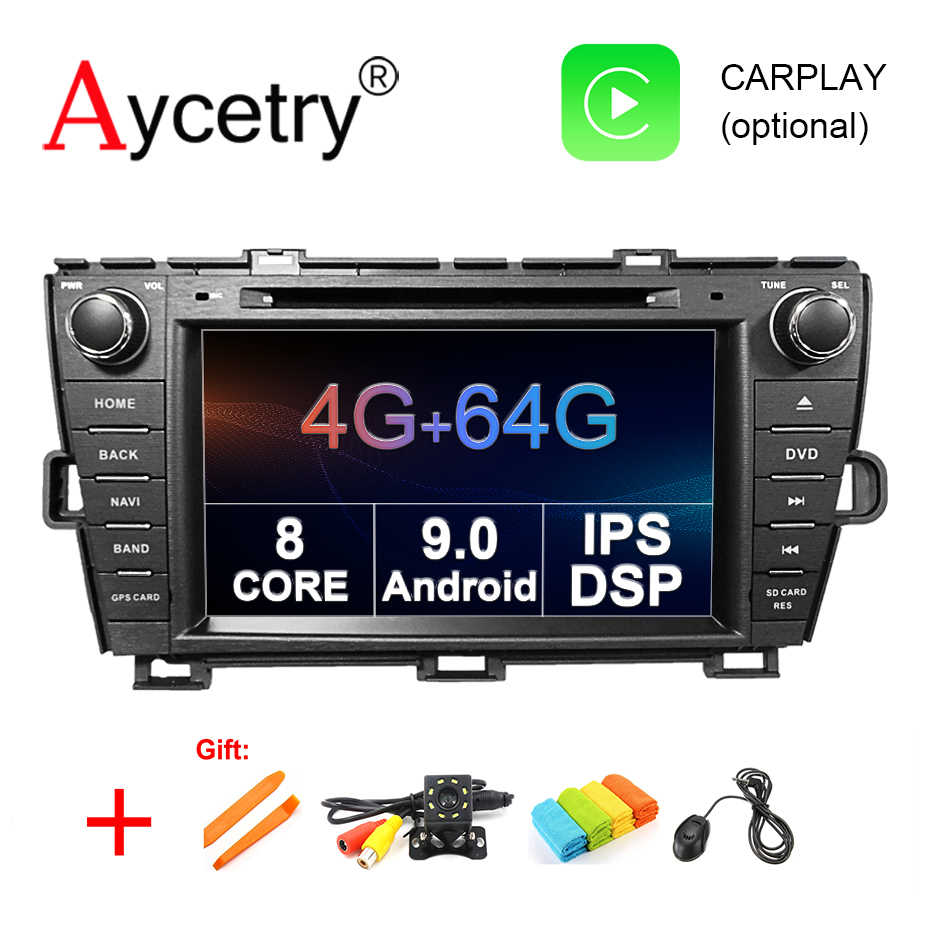 4G+64G 8 CORE 2 DIN Android 9.0 CAR radio DVD PLAYER GPS For Toyota Prius 2009-2013 stereo multimedia unit WIFI DSP DVR obd2 IPS