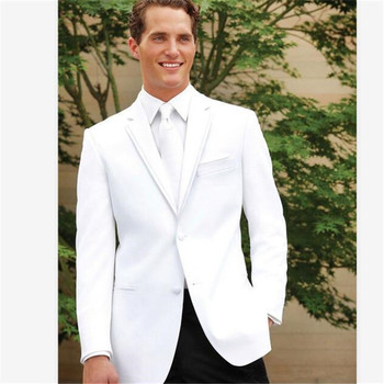 New Men's Suit Smolking Noivo Terno Slim Fit Easculino Evening Suits For Men Notch Lapel Groomsmen Best Man Prom (Jacket+Pants)