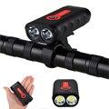 XANES DL07 1800LM 2 * L2 4400mAh USB Перезаряжаемый IPX6 индикатор батареи велосипедный фонарь для езды на велосипеде кемпинг фонарь Автомобильный светодио...