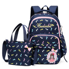 2020 3pcs/Set Children School Bags Teenagers Girls Sweet Rucksack school Backpacks Mochila kids travel backpack Cuteshoulder bag(China)