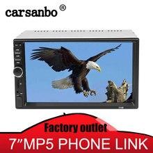 цена на Carsanbo 7 Inch 2 Din Bluetooth FM USB TF Auxin Car Radio MP4/MP5 Video Player Car Stereo Mirror Link With Car Rear View Camera