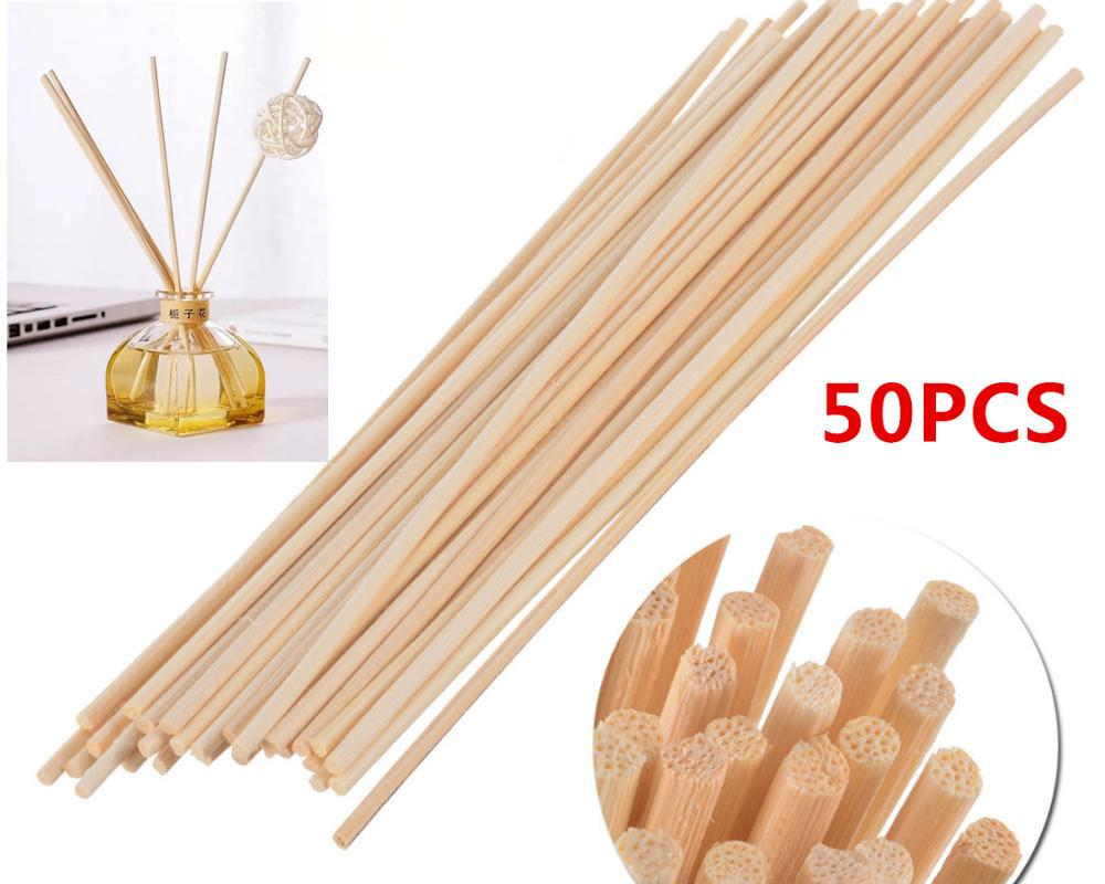 50pcs 22cmX3mm Aroma Rattan Sticks Replacement Refill Reed Diffuser Sticks  For Home Decoration