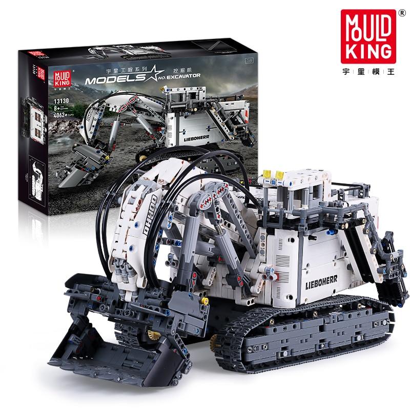 Technic Series Liebhers Terex RH400 Mining Excavator R 9800 Motor Bricks Car Model Building Blocks Compatible Lepined 42100 Toys