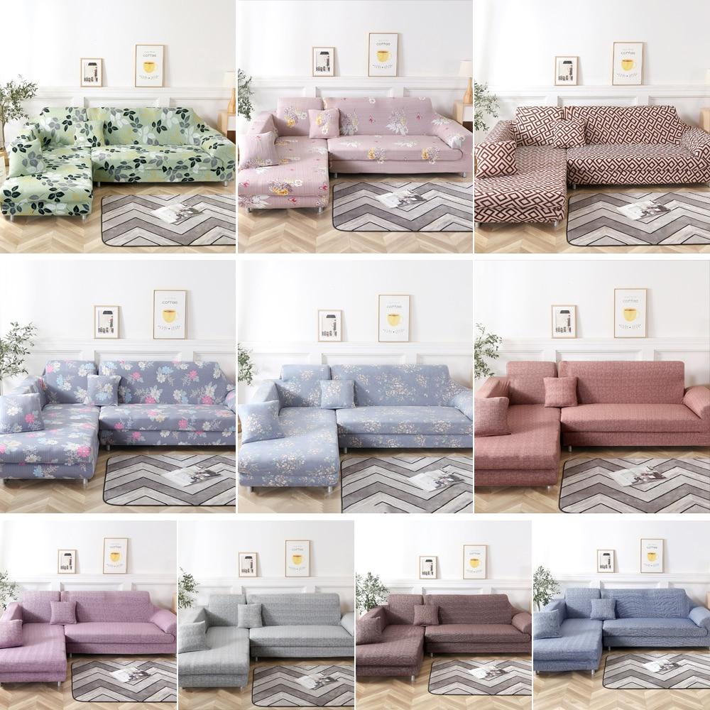 2Pcs Covers For Corner Sofa L Shaped Sofa Living Room Sectional Chaise Longue Sofa Slipcover Corner Sofa Covers Stretch