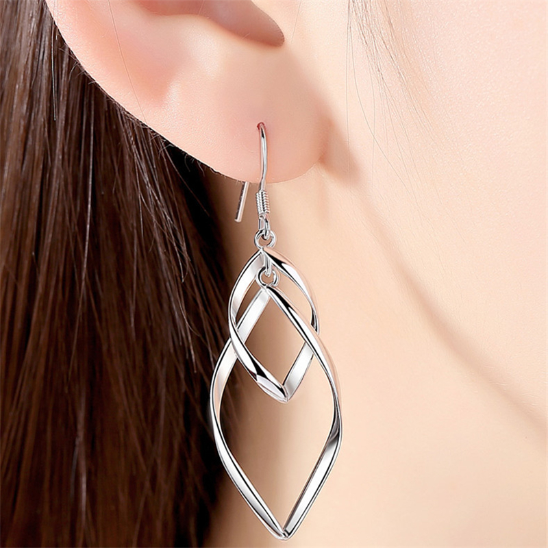 Orchid Art Black White Earrings for Women Girls Gold Plated Dangle Drop Fashion Geometric Statement Jewelry