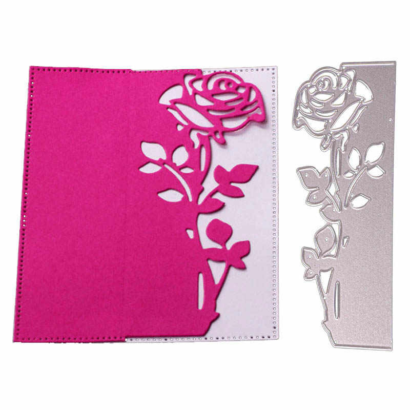 Rose Flower Metal Cutting Dies New 2019 Butterfly dies Stencils For DIY Scrapbooking Craft Die Cuts Paper Cards Cutting Template