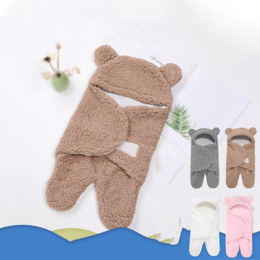 Baby Girls Thin Sleeping Bag Newborn Boys Cute Bear Split Legs Sleepsack Infant 1 2 3 Month Sleepwear Imitation Cashmere Pajamas