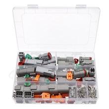 185pcs Deutsch DT Wire Waterproof Connectors Automotive Sealed Plug DT06-2/3/4/6S DT04-2/3/4/6P Electrical Plug for car motor