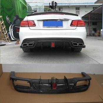 W207 ST Style Carbon Fiber Rear Lip Diffuser Car Styling For Mercedes-Benz E Class W207 E200 E250 E300 E350 Car Body Kit 2010-UP