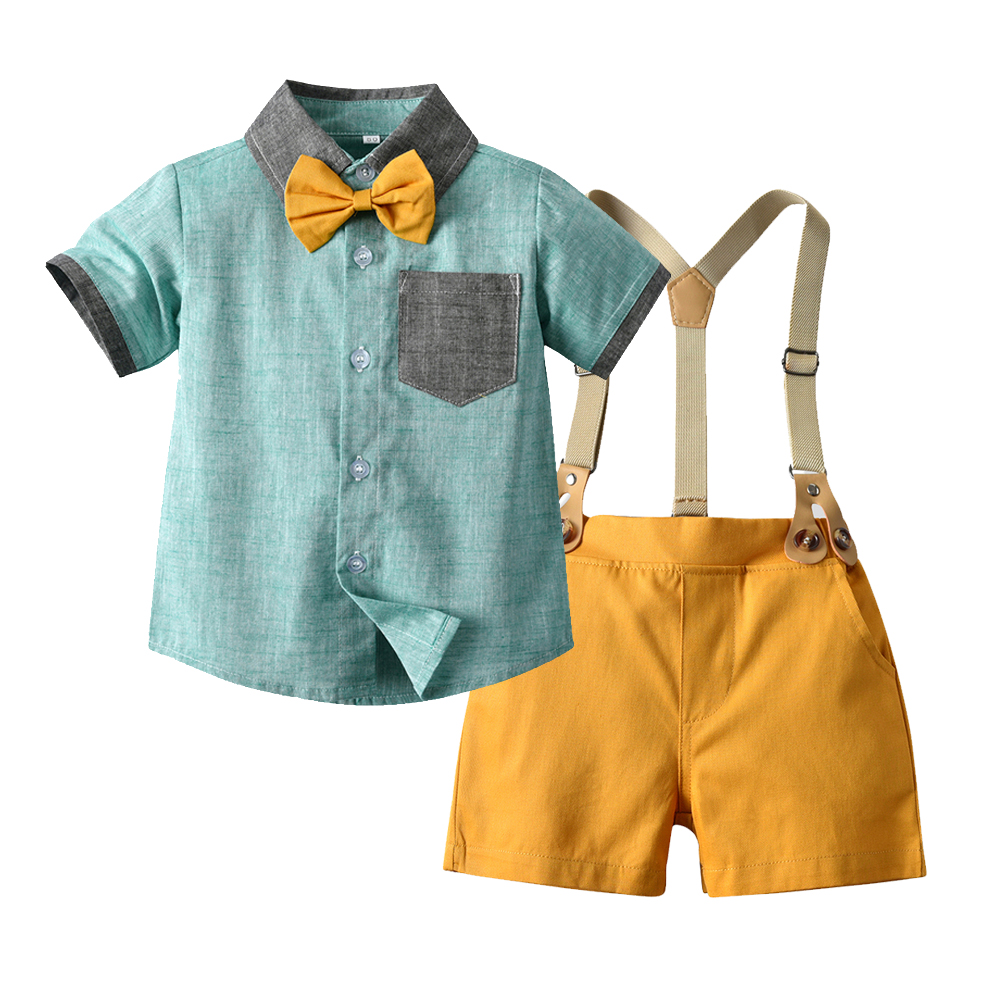 Kids Formal Clothes for 1-6 Years Boys Birthday Party Dress Summer 4 Pieces Children Suit Set Infant Boy Clothing Gift Costume 1