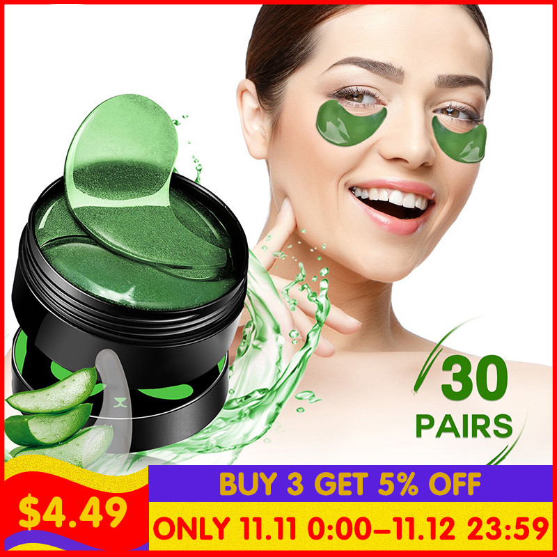 Mung Bean Hyaluronic Acid Eyes Mask Crystal Eyelid Patch Anti Wrinkle Mask Moisture Under Eye Pouch Remover Seaweed Eye Pa