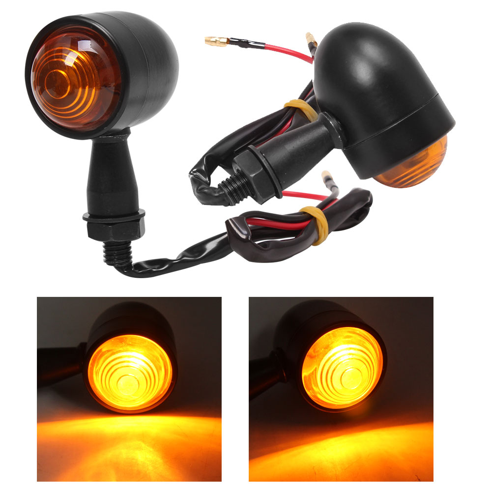 10mm Bolt Turn Signal Light Indicator with Red Brake Running Lamp Smoke Lens UK