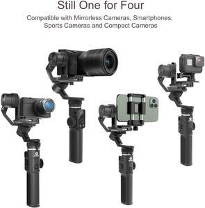 Image 2 - Feiyutech g6max câmera cardan estabilizador para câmera mirrorless/câmera de ação/câmera de bolso/smartphone, para sony a6300/a6500 hero8
