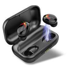Wireless Headset bluetooth 5.0 earphone IPX7 Waterproof Ture Earbuds With Deep Bass Stereo Calls CVC8.0 Noise Canceling