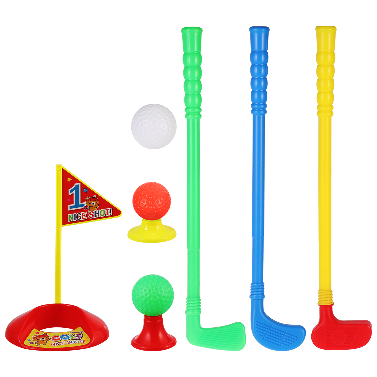 LIOOBO 1 Set Golf Club Suit ABS Creative High-quality Outdoor Parent-child Toys Golf Club Toy For Kids Children Boys