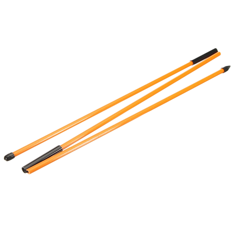 2Pcs Golf Alignment Sticks Fiberglass Training Aid Rods For Correct Ball Direction
