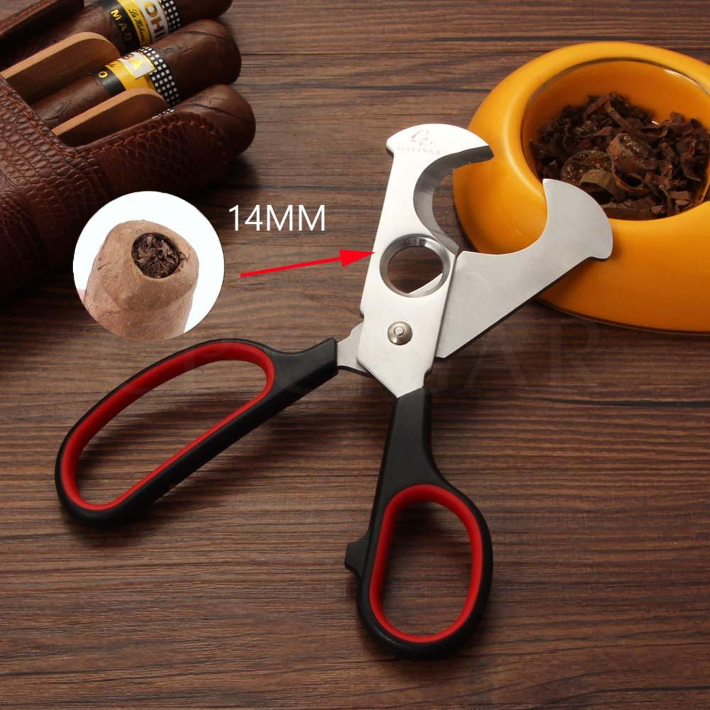 GALINER Cigar Scissors Cutter Metal Cigar Cutter Sharp Stainless Steel For Cohiba Cigars Guillotine W/ Cigars Punch Cutters
