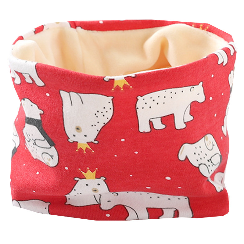 Осенне-зимний детский хлопковый плюшевый шарф, детский шарф для девочек, шарфы для мальчиков и девочек, детский воротник, детский волшебный шейный платок с круглым вырезом - Цвет: plush rose bear