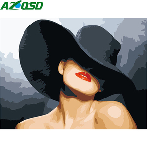 AZQSD Painting By Numbers Woman Oil Painting By Numbers Portrait HandPainted Kits Drawing Canvas Home Decor Wall Art