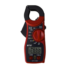 Mini Digital Clamp Multimeter AC/DC Current Voltage Transitor Tester Power Meter Amper Clamp Meter Test Current Clamp dt a86 network hd combine tester tdr line breakpoint test multimeter power meter ac100 240v 4type plug clamp meter