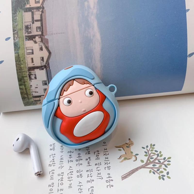 3d Jepang Lucu Kartun Miyazaki Hayao Ponyo Di Tebing Headphone Kulit Kasus Untuk Apple Udara Pods 1 2 Silikon Pelindung Funda Earphone Aksesoris Aliexpress