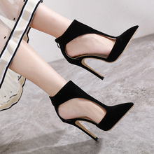 Купить с кэшбэком Woman Pumps Women Shoes With 12.5cm High Heels Spring Summer Hollow Women Heels Sandals Rosette Stiletto Chaussures Femme LJA931