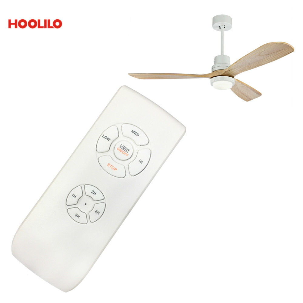 HOOLILO Time Setting RF AC 3 Speeds Or DC 5 Speeds With Reversible  Remote Control Ceiling Fan Light Fan Lamp Accessories