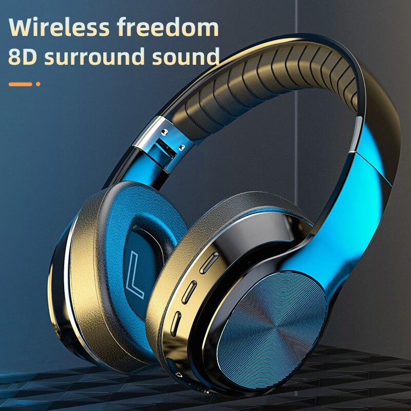 Nieuwe VJ320 Hifi Koptelefoon Draadloze Bluetooth 5.0 Opvouwbaar Ondersteuning Tf Card/Fm Radio/Bluetooth Stereo Headset Met Microfoon diepe Bas 2