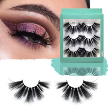 лучшая цена 1box eylashes mink false lashes 3pairs lashes mink eyelashes natrual makeup 3d