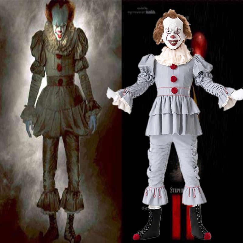 5 pz/set Film di Stephen King Si Capitolo Due Pennywise Costume Cosplay Oggetti di Scena Adulto uomini donne Del Partito di Halloween di Orrore Costumi Da Clown