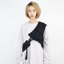 NiceMix new Solid black Vest Outwear detachable saddle for m
