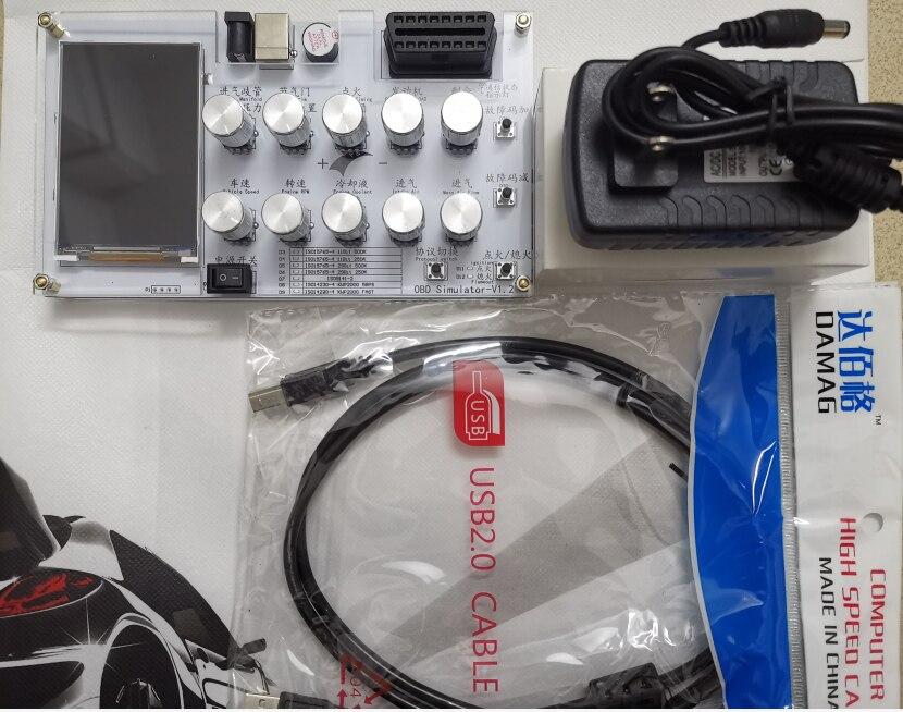 Tools : English Version Automotive ECU simulator  OBD simulator  J1939 OBD II ELM327 development test  CAN customization 5-SAE-J1939