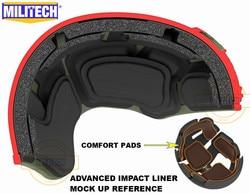 MILITECH Stack Gebouwd Geavanceerde Impact Liner Padding Systeem Voor Flux/SNEL/MICH/OPS-Core/ACH /MTEK/PASGT Ballistische Helm