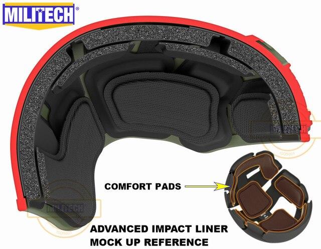 MILITECH Stack Gebouwd Geavanceerde Impact Liner Padding Systeem Voor Flux/SNEL/MICH/OPS Core/ACH /MTEK/PASGT Ballistische Helm