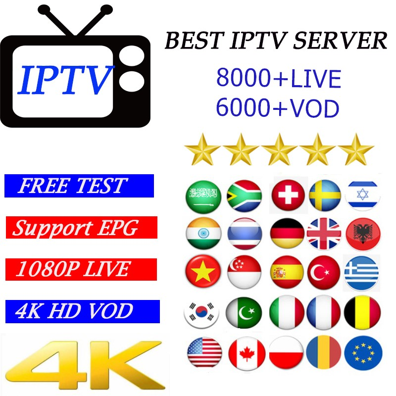 Full HD World IPTV+8000 Live Xxx VOD Adult 4K Europe Dutch Israel Spain Portugal Itlay Arabic USA IPTV Subscription Smart TV M3U