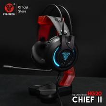 Fantech 3.5mm fone de ouvido para jogos hg20 rgb fone de ouvido com microfone para pc ps4 e ac3001 suporte para fone de ouvido pung fps jogador