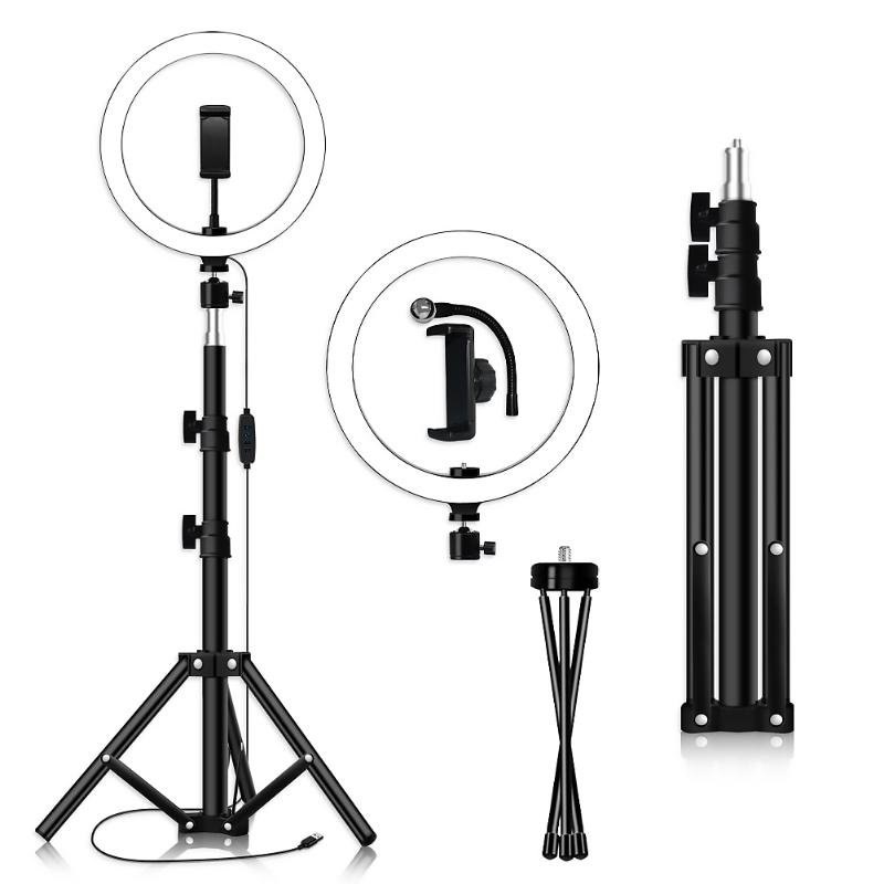 10 Inch 128LED Selfie Ring Light Dimmable Camera Phone Lamp W/Stand Tripod Support Dropshipping